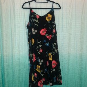 Old navy floral fit and flare dress